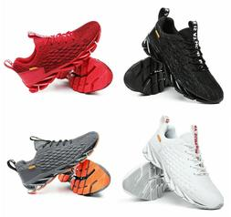 Men Sport Breathable fashion knit Blade shoes casual running