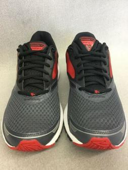 Mens Brooks  Launch 4 Running Shoes Anthracite/Black/High Ri