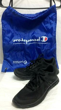 champion mens 7.5 US black mesh memory foam athletic running