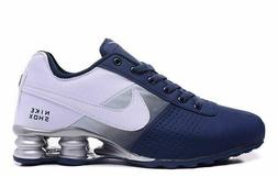 MENS BLUE AND WHITE NIKE SHOX  ATHLETIC  RUNNING SHOES SIZES