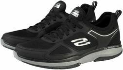 Skechers Mens Burst Black Slip On Memory Foam Athletic Shoes