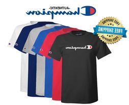 Champion Mens Classic Jersey Script Logo T-Shirt---Brand New