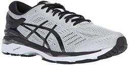ASICS Mens Gel-Kayano 24 Running Shoe, Silver/Black/Mid Grey