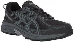 ASICS Mens Gel-Venture 6 Running Shoe, Black/Phantom/Mid Gre