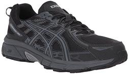 ASICS Mens Gel-Venture 6 Running Shoe, Black/Phantom/Mid Gre