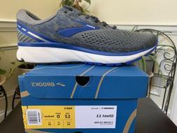 Brooks Mens Ghost 11 Gray Running Shoes Size 12 D Medium