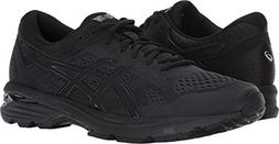 ASICS Mens GT-1000 6 Running Shoe, Black/Silver, 11 Medium U