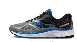 Saucony Mens Guide 10 Running Shoes Grey Black Blue S20350-1