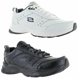Skechers Mens Haniger Leather Memory Foam Running Shoes Snea