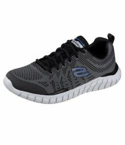 Skechers Mens Overhaul-Debbir Gray Running Shoes 8.5 Medium