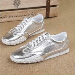 Mens Patent Leather Running Shoes British Low Toe Sneakers A