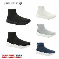 DREAM PAIRS Mens Sneakers Breathable Mesh Running Shoe High