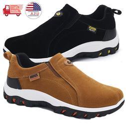 Mens Suede Slip On Sports Outdoor Sneakers Running Walking H