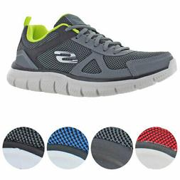 Skechers Mens Track-Bucolo Leather Memory Foam Running Shoes