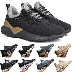 Mens Trainers Running Gym Fitness Shoes Mesh Sneakers Lace U