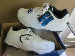 Mens White Champion Prime Running Shoes Size 14 W Memory Foa