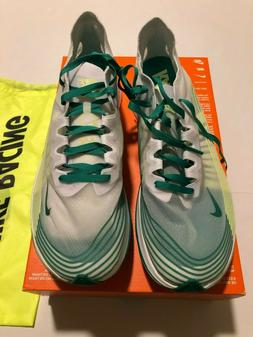 Nike Men's Zoom Fly Sp Running Shoes White Green  Size 10.