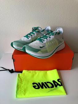 Nike Men's Zoom Fly Sp Running Shoes White Green  Size 11
