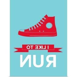Minimalist Shoe I Poster Art Print, Running Home Decor