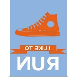 Minimalist Shoe III Poster Art Print, Running Home Decor