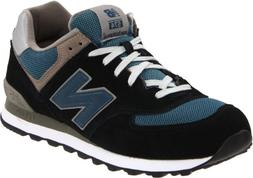 New Balance Men's ML574 Lifestyle Sneaker,Navy/Slate Blue Su