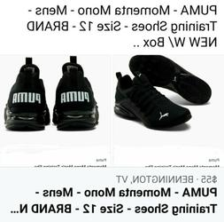 PUMA Momenta Mono Men's Training Shoes Size 12 - Brand New W