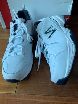 New Balance Men's MX608v4 Training Shoe, White/Navy, 10 D US