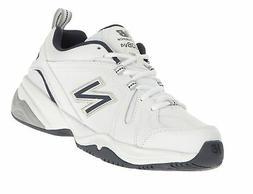 New Balance Men's MX608v4 Training Shoe, White/Navy, 11 D US