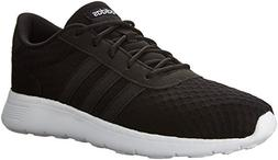 adidas  Women's Lite Racer W Sneaker, Black/White, 8 M US