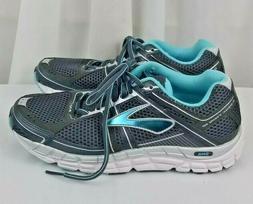 NEW Brooks Addiction 12 running blue gray silver womens shoe