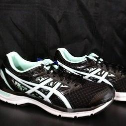 New! Asics GEL-EXCITE 4 T6E8N 9001 Black/Wht/Mint Running Sh