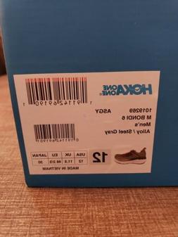 NEW! Mens HOKA ONE ONE BONDI 6 Running Shoes Alloy/Steel Gre