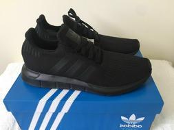 New Adidas Originals Swift Run Shoe Triple Black Running AQ0