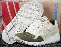 New Saucony Shadow 5000 Cream Tan Forest Green Low Running S