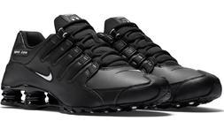 New NIKE Shox NZ Premium Running Shoes Mens black/white/blac