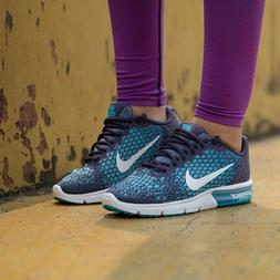 NEW Women's Nike Air Max Sequent 2 Running Shoes Purple Teal