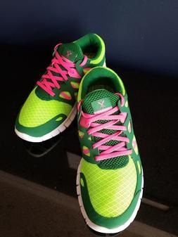 New Women's Nike Free Run+2 Running Shoes Electric Green 443