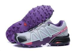 NEW SALOMON WOMEN'S SPEEDCROSS 4 W TRAIL RUNNER BATTLEFIELD