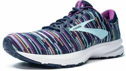 NEW Womens 6.5 Brooks  Launch 6 Running Shoes Navy Purple