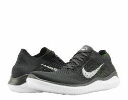 NIB Nike Men's Free RN Flyknit 2018 Black White Mesh Running