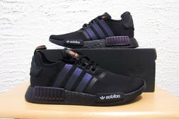 Adidas NMD R1 Mens Size 12 Reflective Xeno Black Orange Runn