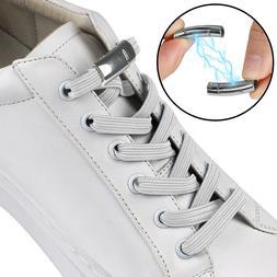 No Tie Elastic Shoelaces Magnet Buckle Shoe Laces Running Tr