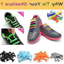 No Tie Shoelaces Elastic Silicon Shoe Laces For Walking, Run