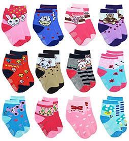 Deluxe Non Skid,Anti Slip,Slipper Ankle Socks For Baby,Toddl