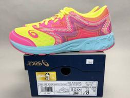 ASICS Noosa GS Youth Girls Running Shoes Size 6.5 Yellow Pin