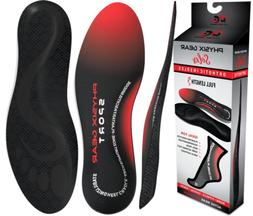 Physix Gear Sport Full Length Orthotic Inserts with Arch Sup