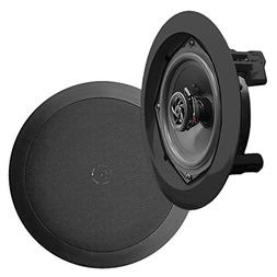 New Pyle PDIC51RDBK 5.25'' Two-Way In-Ceiling Speaker System
