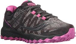 Saucony Women's Peregrine 7 Runshield Running Shoe, Black Pi