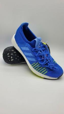 Adidas Pulse Boost HD Shoes Running  Blue Solar Yellow Kids