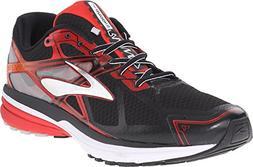 Brooks Men's Ravenna 7 Black/High Risk Red/Silver Sneaker 9